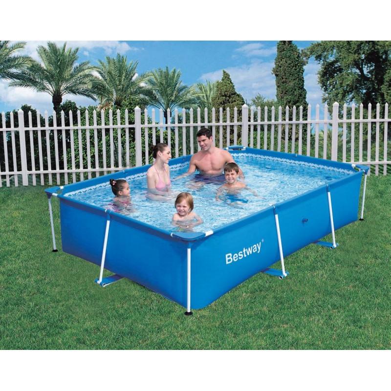 alberca rectangular bestway splash frame 259x170x61