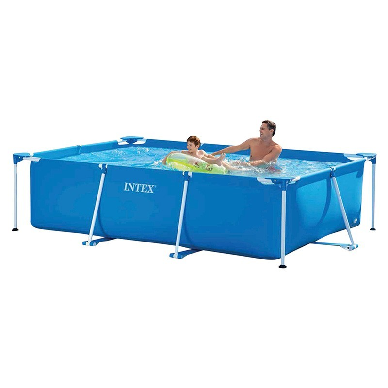 Alberca intex rectangular frame tubular infantil for Piscina tubular rectangular