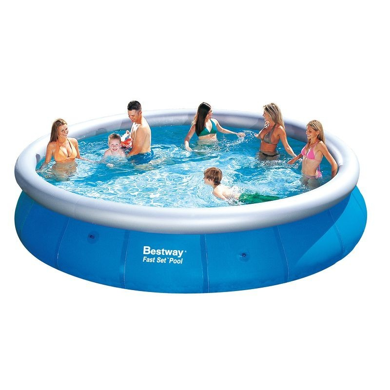 Alberca bestway fast set 457 x 107 cm 57126 poolaria for Piscinas de plastico baratas decathlon