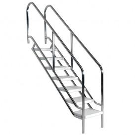 Acceso discapacitados alberca poolaria m xico for Escalera piscina facil acceso