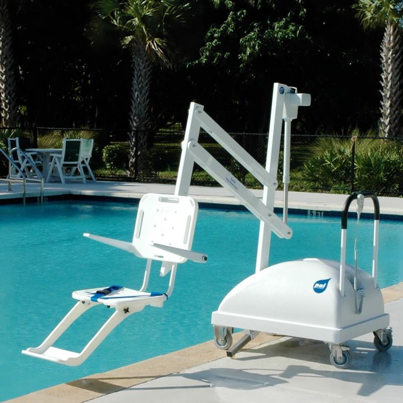 Elevador port til para acceso piscina discapacitados for Sillas para discapacitados